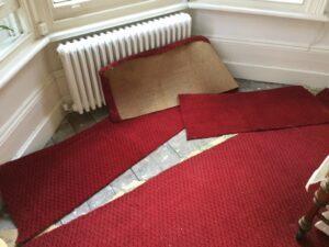 Carpet replacement & fit progress