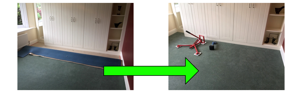 before & after Herts carpet fitting