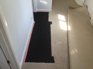 Carpet patch & replace progress