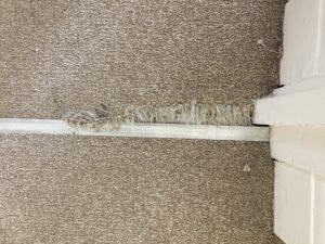 Carpet trim edge before